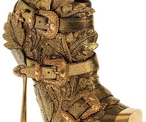 Alexander McQueen, fashion, and gold image