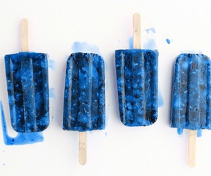blue, food, and ice cream image