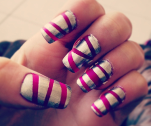colours, nails, and stripes image
