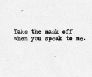 mask, quotes, and speak image