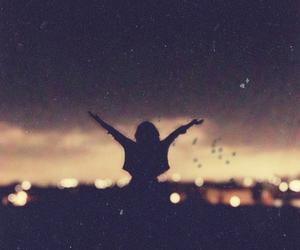 girl, free, and light image