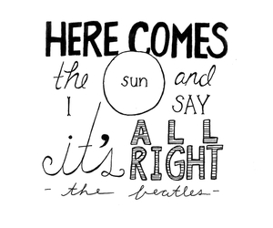 the beatles, sun, and Lyrics image