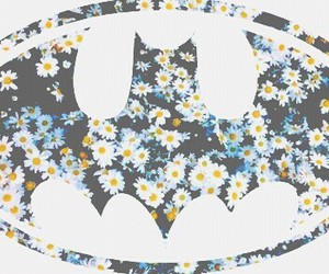 batman, flowers, and wallpaper image