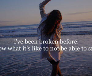 broken, smile, and quote image