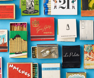 colorful, matches, and matchbox image