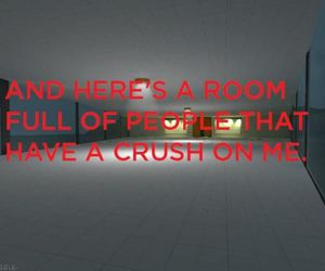 crush, funny, and room image