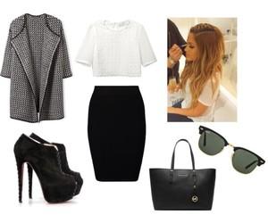heels, raybans, and whitetop image