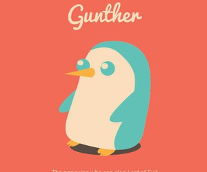 penguin, adventure time, and günther image