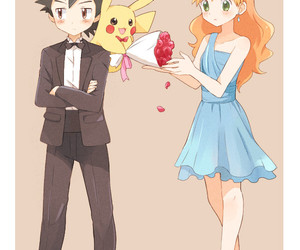 pikachu, ash, and misty image