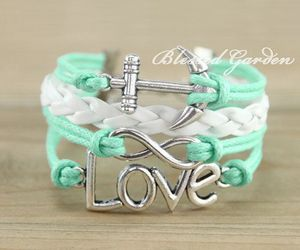 anchor, bracelet, and infinity image