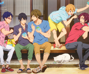 anime, free!, and hazuki nagisa image