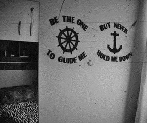 anchor, black and white, and quote image