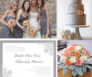 wedding party, happyinvitation, and wedding color image