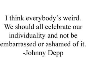 quotes, johnny depp, and weird image