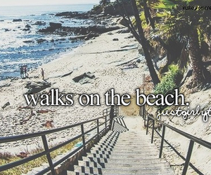 beach, summer, and walk image