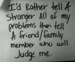 quotes, problem, and stranger image