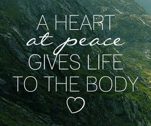 peace, body, and heart image