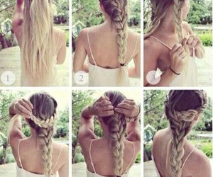 beautiful, braid hair, and cool image