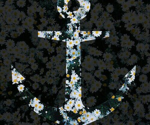 flowers and anchor image