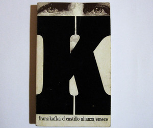 book cover, K, and type image