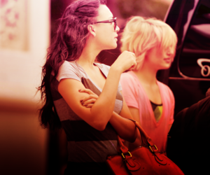 naya rivera, glee, and dianna agron image