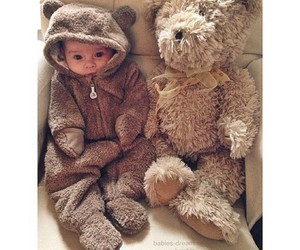 baby, teddy, and bear image