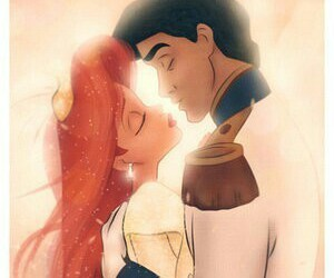couple, little mermaid, and disney image