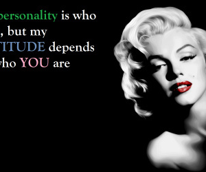 Marilyn Monroe and quote image