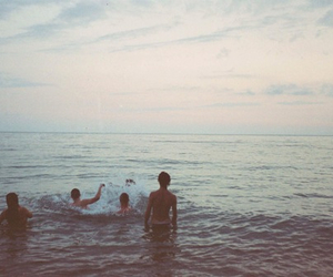 sea, friends, and beach image