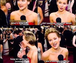 Jennifer Lawrence, leonardo dicaprio, and brandy scanlan image