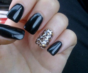 nails, black, and pretty image