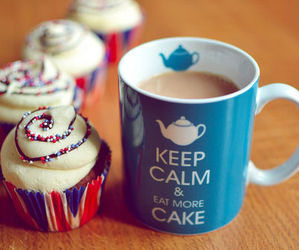 cake, cupcake, and keep calm image