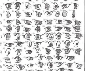eyes, drawing, and manga image
