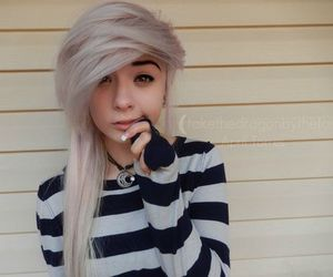 scene girl, pastel hair, and april torres image
