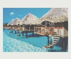bora bora, summer, and sea image