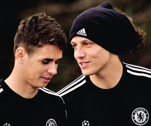 david luiz, oscar, and brazil image
