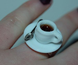 ring, tea, and coffee image