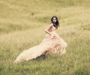 ball gown, field, and artistical image