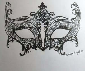 drawing, art, and mask image