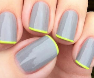 nails, neon, and grey image