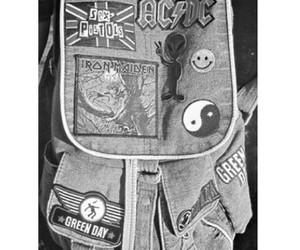 bag, bands, and black white image