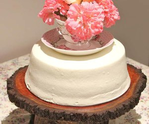 cake, topper, and party image