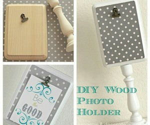 diy, photo holder, and tutorials image