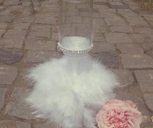 bride, white, and glass image