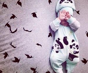 baby and panda image