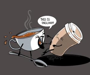 coffee, tea, and england image