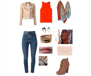 booties, Polyvore, and scarf image