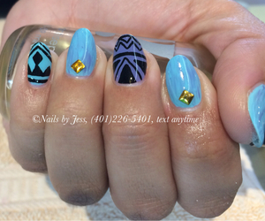 aztec, nail art, and nails image