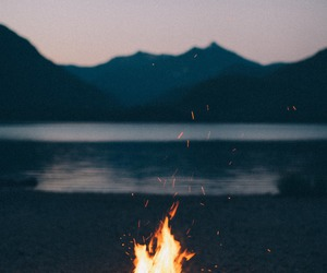 fire, night, and summer image