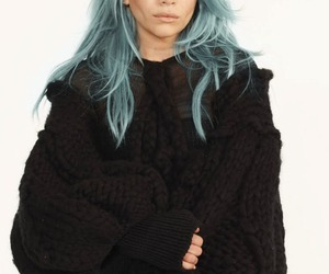 cool, blue, and hair image